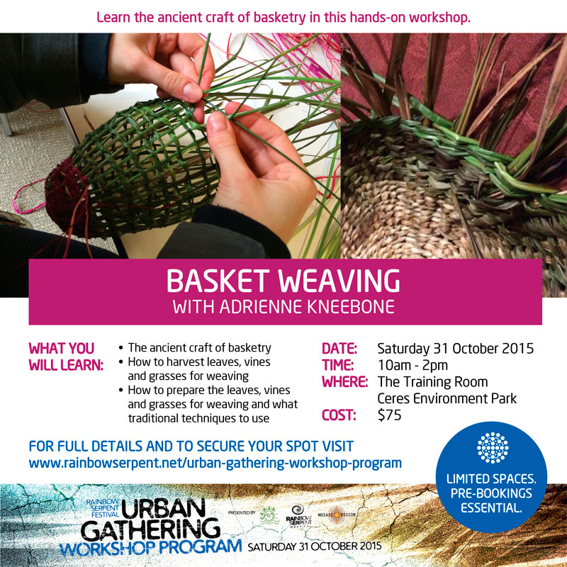 Basket Weaving Workshop with Adrienne Kneebone