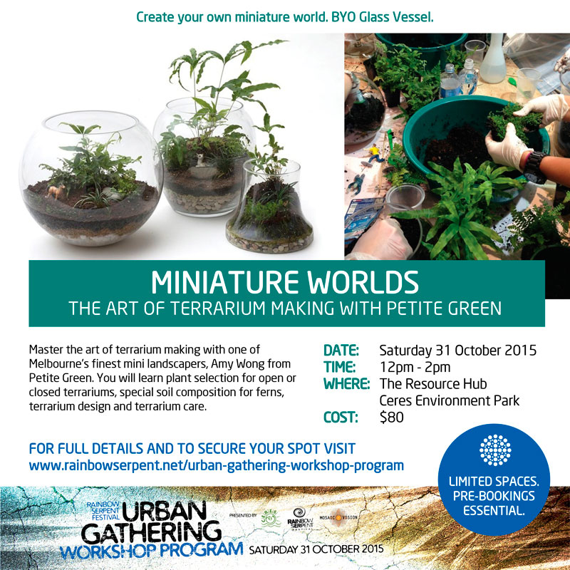 Miniature Worlds - The Art of Terrarium Making Workshop